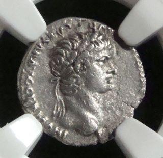 Roman Empire: Nero,  54 - 68 Ad. ,  Cappadocia,  Caesarea,  Ar Hemidrachm Ngc Xf photo