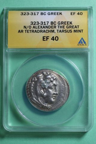 Ancient Greece Alexander The Great Silver Tetradrachm Tarsus 323 - 317 Bc photo