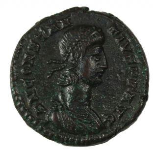 Constantius Ii Ae 1/2 Centenionolis 348 - 354 Ad Trier Ancient Roman Imperial Xf photo