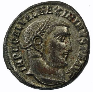Maximinus Ii As Augustus Follis 312 Ad Ancient Roman Imperial photo