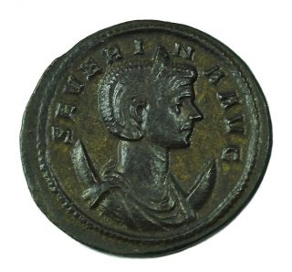 Ancient Roman Imperial Ae Antoninianus Severina C.  270 Ad Wife Of Aurelian Au photo