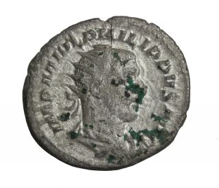 Ancient Roman Imperial Philip I 244 - 249 Ad Ar Antoninianus Coin photo