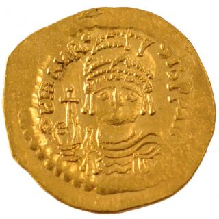 Bysantine Empire,  Maurice Tiberius,  Solidus photo