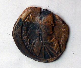 Half Follis Anastasius I 491 - 518 Ad Coin Byzantium Ae 2349 - 358 photo