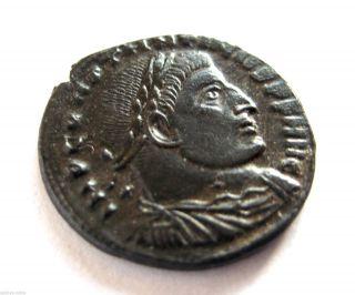 307 A.  D Finest Constantine I Avg Roman Bronze Follis Coin - Ticinum.  Ef photo