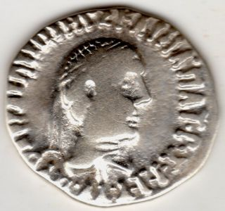 Ancient Greek Silver Coin From The Conquests Of Alexander The Great Indo - Greek photo