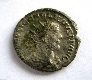 253 A.  D Gallic Empire Emperor Gallienus Roman Period Ar Silver Antoninus Coin photo