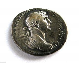100 A.  D British Found Emperor Trajan Roman Period Imperial Silver Denarius Coin photo