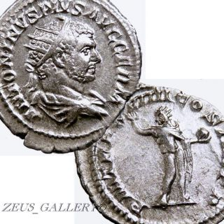 Caracalla Sun God Sol Ancient Roman Silver Coin Large Double Denarius Rome 216ad photo