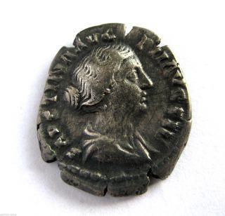 C.  140 A.  D British Found Faustina I Roman Period Imperial Silver Denarius Coin.  Vf photo