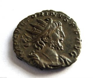 269 A.  D Gallic Empire Emperor Victorinus Roman Period Billon Antoninus Coin.  Vf photo