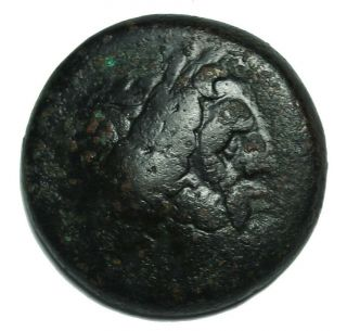 Ancient Alexandria Egypt Ptolemy Ii 269 - 68 Bc Ae Obol F About Vf Greek Coin photo