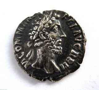 Scarce Issue C.  145 A.  D Marcus Aurelius Roman Imperial Ar Silver Denarius Coin photo