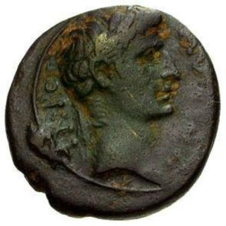 Ng Ancient Roman Bronze Coin Of Augustus Caesar With Sc On Reverse 29 Bc - 14 Ad photo