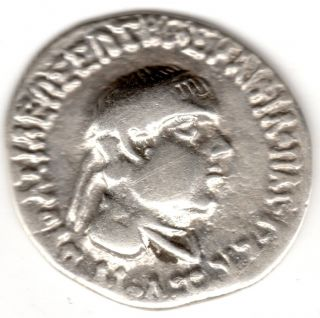 Ancient Greek Silver Coin (v Rare) Bust Of Sybirtius ' Alexander The Great ' Vf photo