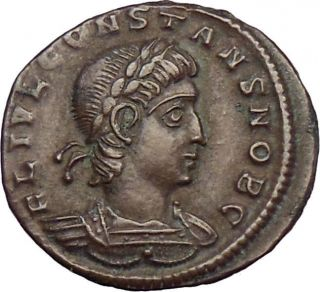 Constans Son Of Constantine I The Great Ancient Roman Coin Legions Very Rare photo