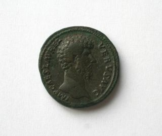 Lucius Verus Ae Sestertius. photo