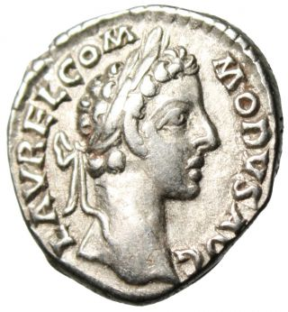 Commodus Silver Denarius Co Reign With Marcus Aurelius