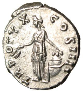Antoninus Pius Silver Ar Denarius