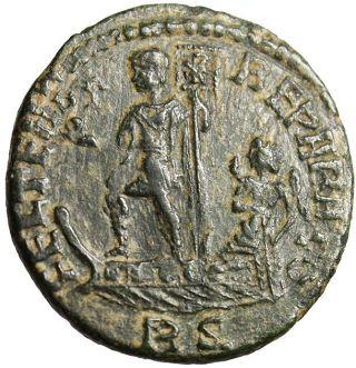 Constantius Ii Ae2 Emperor On Galley Rome Vf Roman photo