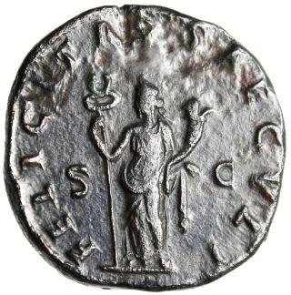 Vf Rare Trajan Decius Double Sestertius
