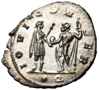 Ef & Fully Silvered Aurelian Antoninianus