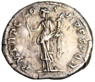Gvf Trajan Silver Ar Denarius