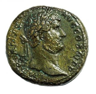 Hadrian Ae Sestertius 117 - 138 Ad Vf Ric.  750 Ancient Roman Empire photo