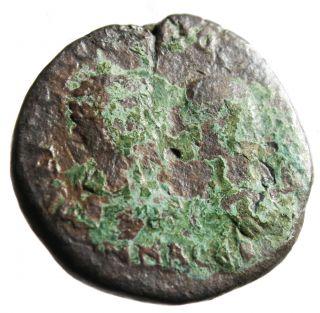 1 Cent Start Rare Two Bust Coin Of Macrinus & Diadumenian Of Markianopolis photo