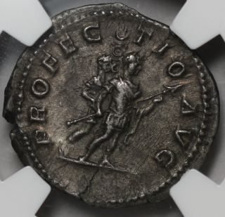 Ngc Xf Rare Historic Caracalla Denarius Profectio Emperor & Soldier Ancient Coin photo