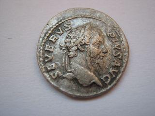 Roman Silver Denarius Of Septimius Severus,  193 - 211 A.  D. photo