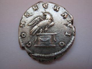 Roman Silver Denarius Of Imp.  Antonius Pius,  138 - 161 A.  D. photo