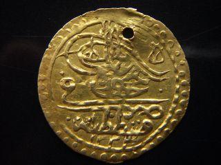 1223/2 1/2 Yarim Zeri Mahbub Islamic Ottoman Turkey Islambol Very Rare Gold Coin photo