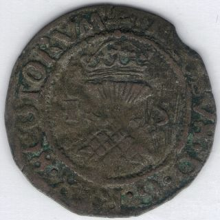 Tmm 1538 - 42 Scotland Billon Bawbee James V Scotland Avf Approx 21 - 22mm photo