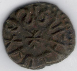Tmm Cr;849 Ad Anglo Saxon Ae Sceat Of Osbert Ef Corr.  S869 Approx 11 - 12mm photo