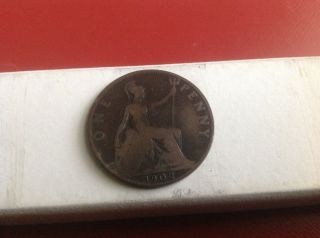 Great.  Britain Large Penny 1902 photo