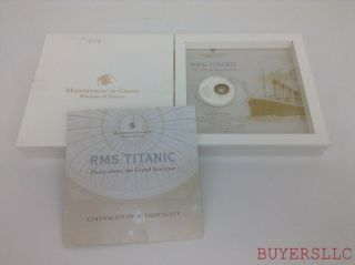 Cook Islands 2012 Rms Titanic 1.  5oz Silver Coin - Handcut Coloured Glass photo