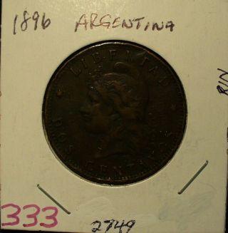 Argentina Dos Centavos 1896 photo