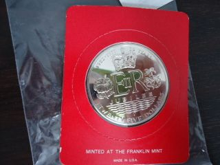 Cook Islands: 1977 Queen ' S Silver Jubilee,  Silver Bu $25 Dollars Coin,  Rare photo