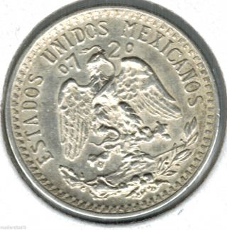 1939 Mexico 20 Centavos Silve Great Detail Uncirculated photo