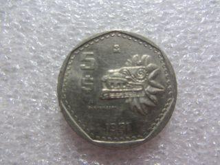 Mexico 5 Pesos Coin 1981,  Collectable Item photo