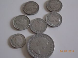(6) Sixpence And A Two Shilling 1941,  1942,  1948,  1956,  1962,  1963,  1966 photo