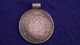 Austria 5 Corona 1900 Silver Coin.  900 Fine Silver 24.  8 Grams Pendant photo