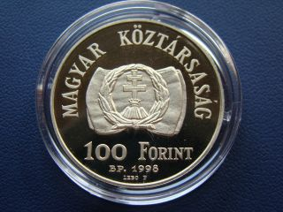 Hungary 100 Forint Proof Coin 1998 150.  Anniv.  Of The Revolution And War 1848 - 49 photo