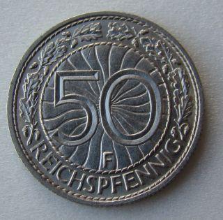 Germany,  Third Reich 50 Reichspfennig,  1937 F photo
