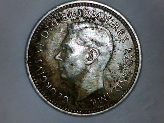 Please L@@k Austraila 1942 Silver Three Pence photo