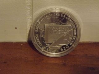 History Of America - Liberia 2006 Ratification Of The Constitution Coin photo