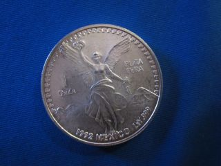 1 Onza Plata Pura 1992 Mexico Silver Coin photo