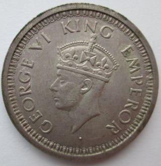 1944 India British Silver Rupee Km 557.  1 (george Vi).  1874 Oz Asw photo