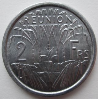 1948 Reunion 2 Francs Km 8 photo